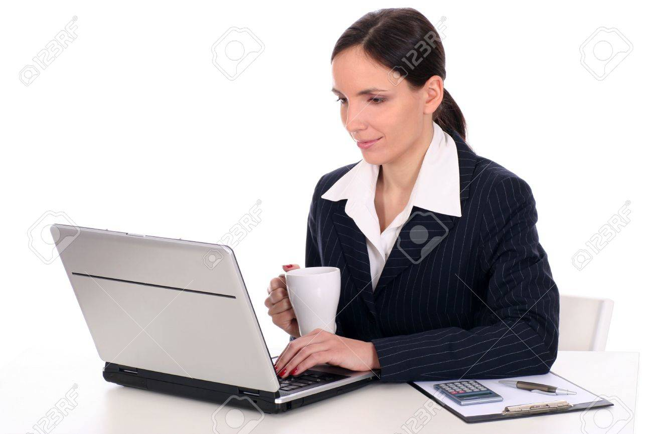 Woman using laptop Stock Photo - 2531108