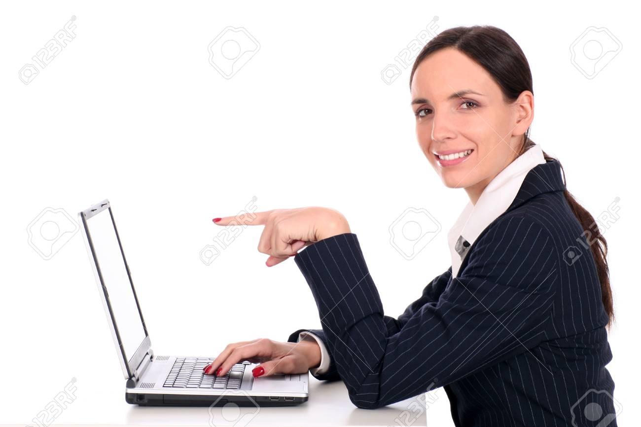 Businesswoman using laptop Stock Photo - 2617006