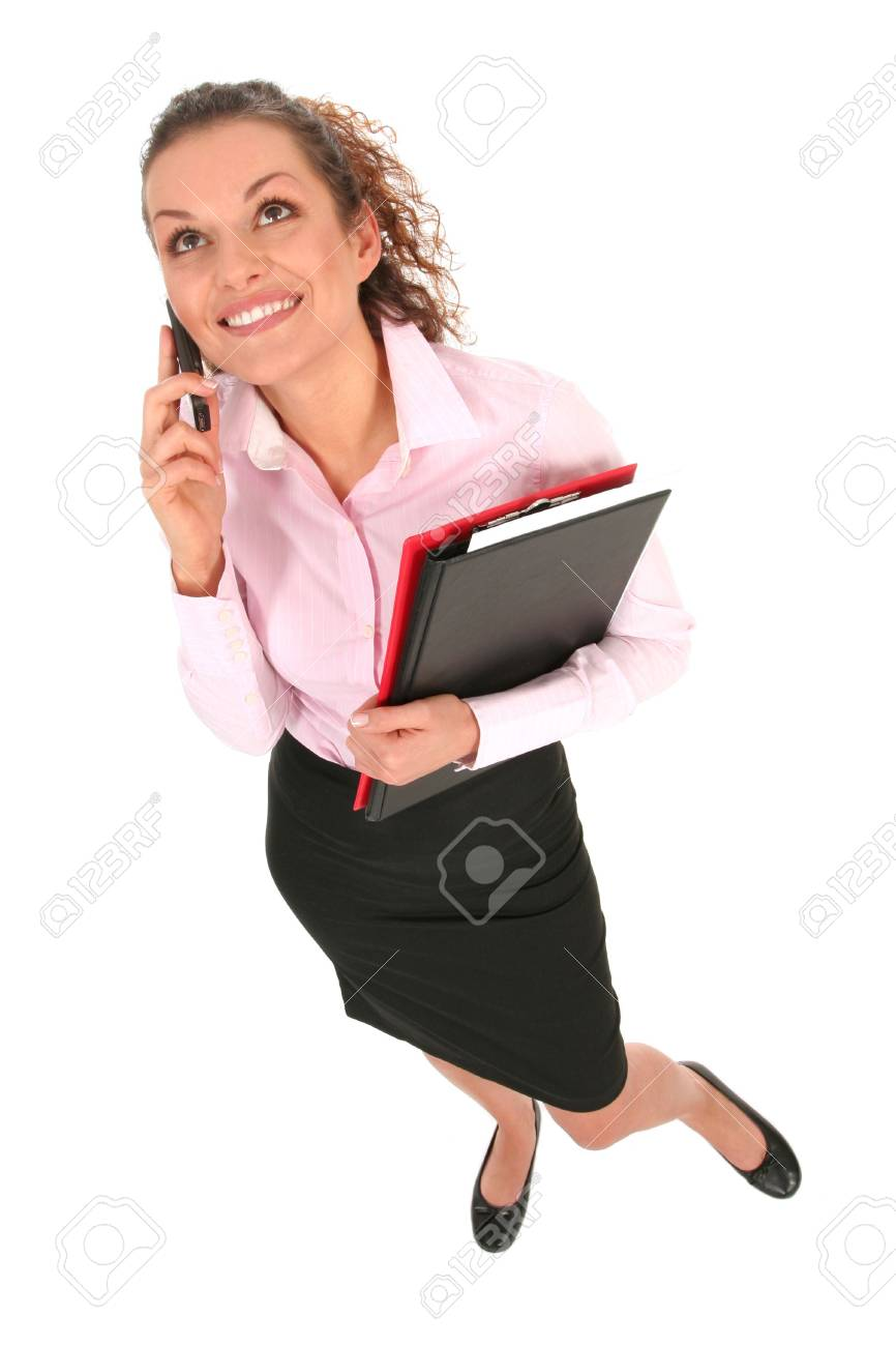 Businesswoman holding documents Stock Photo - 2646374