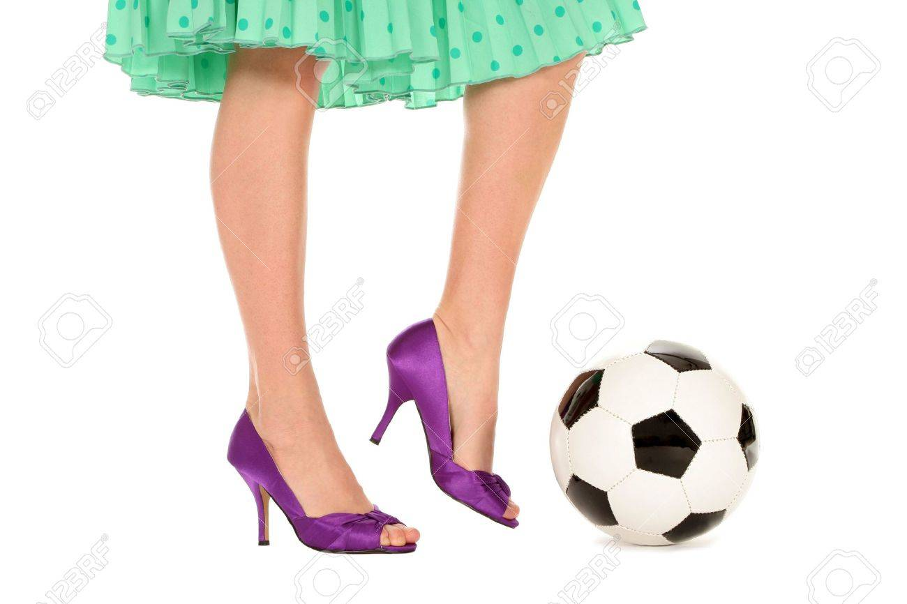 Soccer Ball and Women�s Legs Stock Photo - 2994605