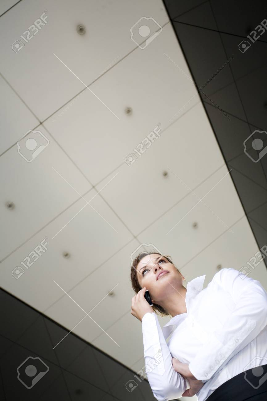 Businesswoman outside a modern building Stock Photo - 3526236