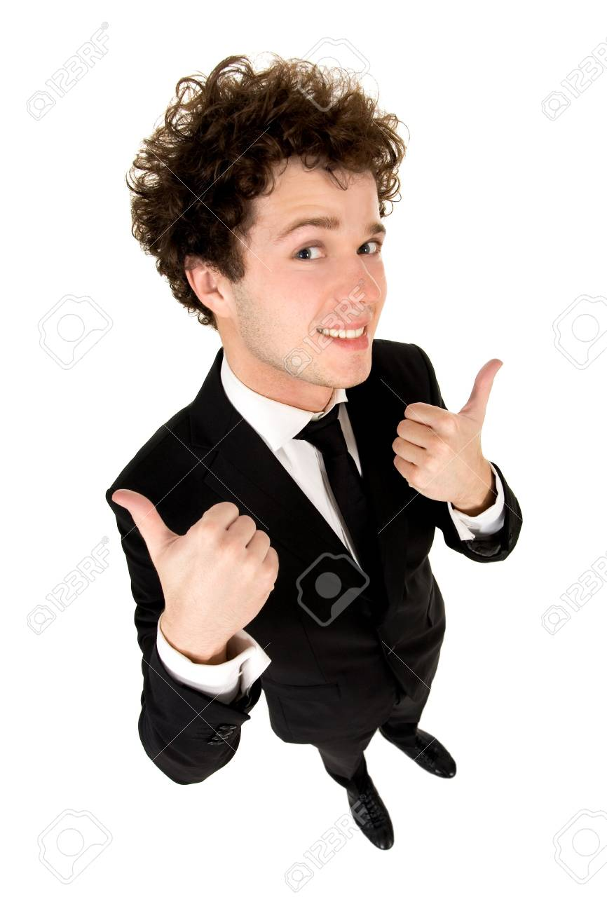 Man With Thumbs Up Stock Photo - 4924654