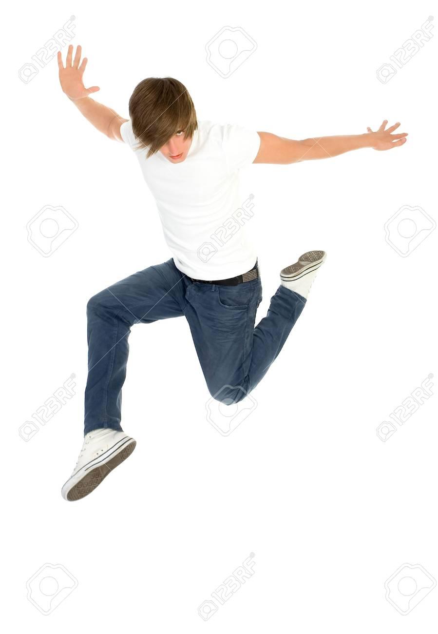 Young man jumping Stock Photo - 5179134