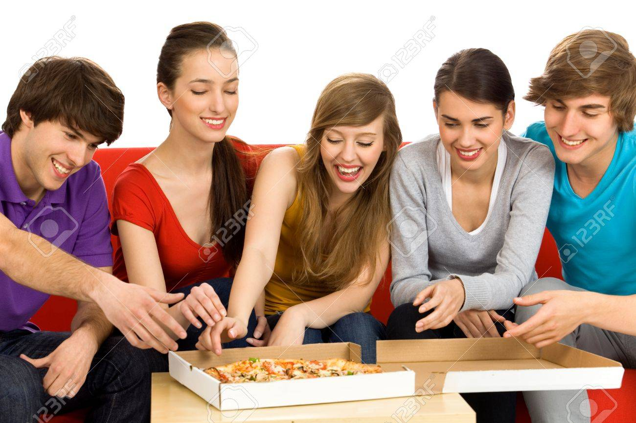 Friends Eating Pizza Stock Photo - 6960925