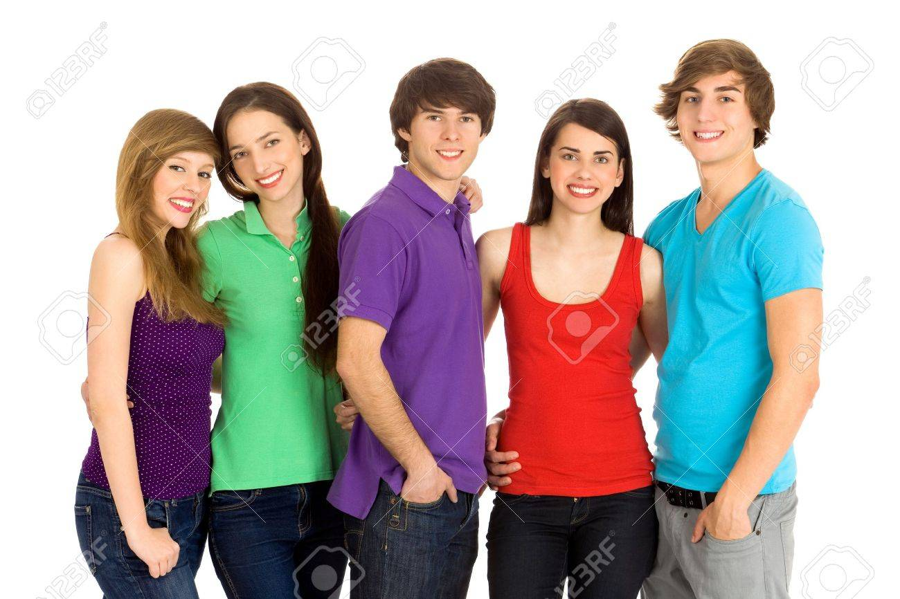 Group of five young friends Stock Photo - 7052666