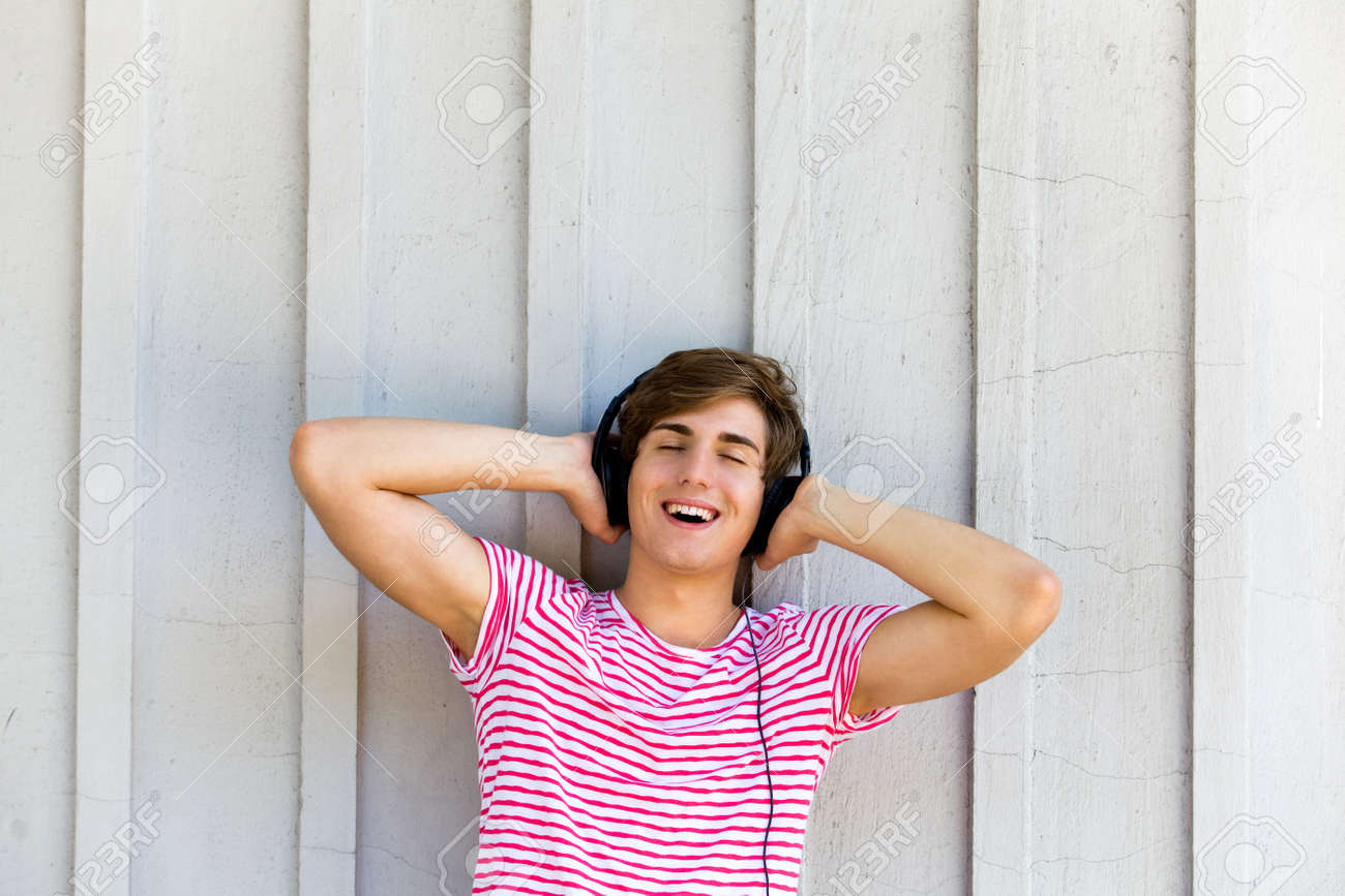 Young man with headphones Stock Photo - 7332096