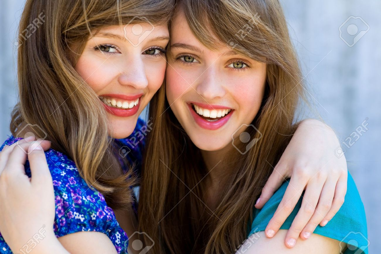Two friends hugging Stock Photo - 7605344
