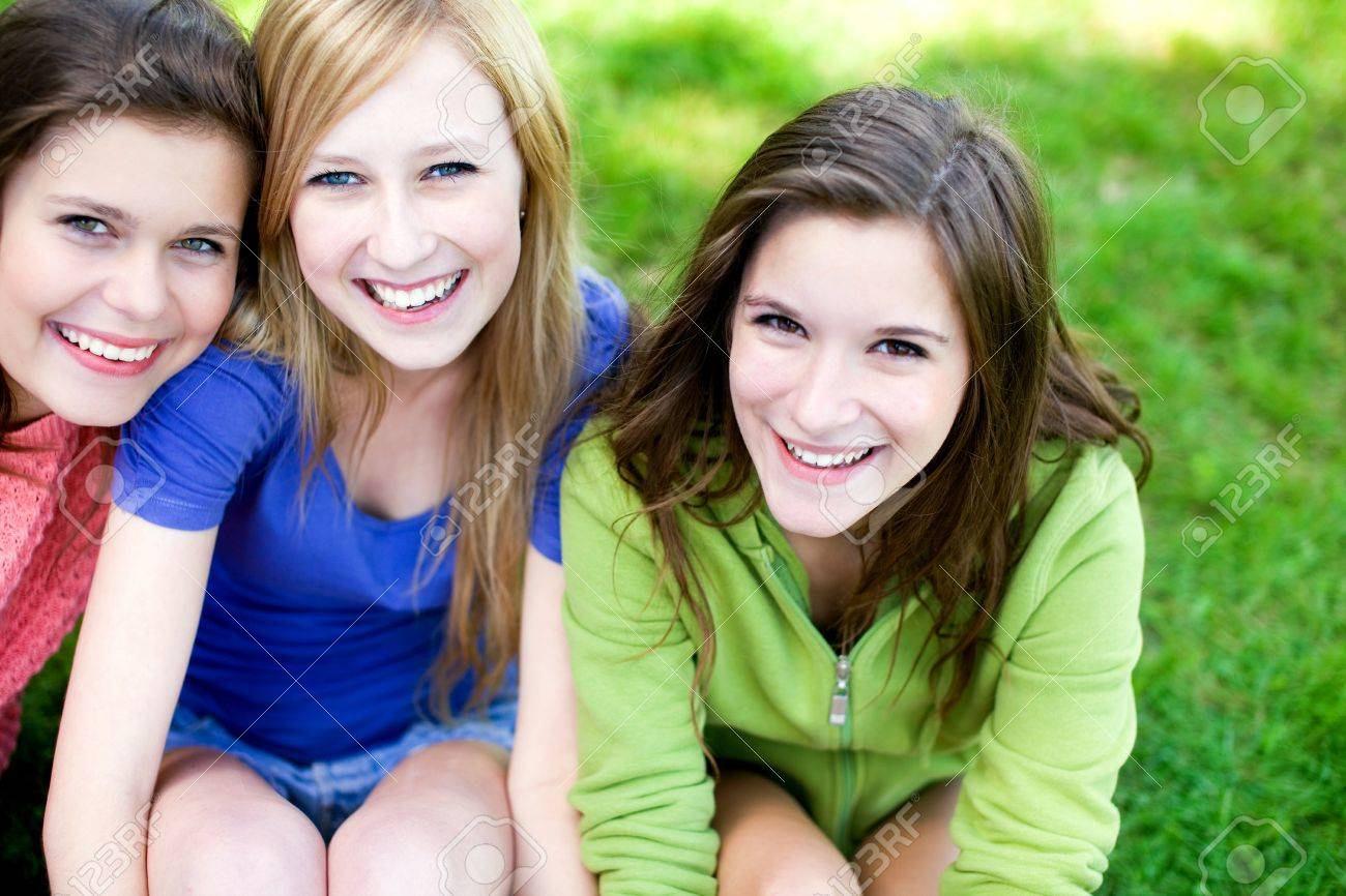 Three Young Women Friends Stock Photo - 10385681