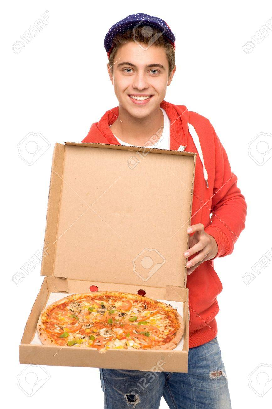 Pizza delivery man Stock Photo - 10663723
