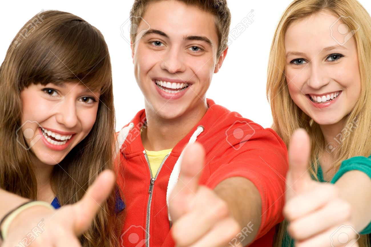 Friends with thumbs up Stock Photo - 10663747