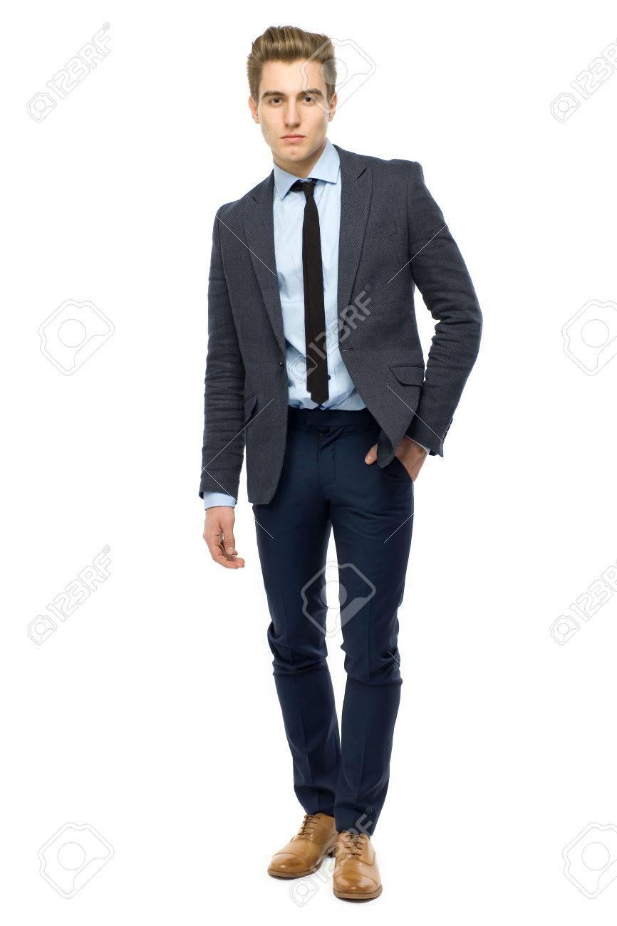 64ec86e77d3d Stock Photo - Stylish man wearing suit