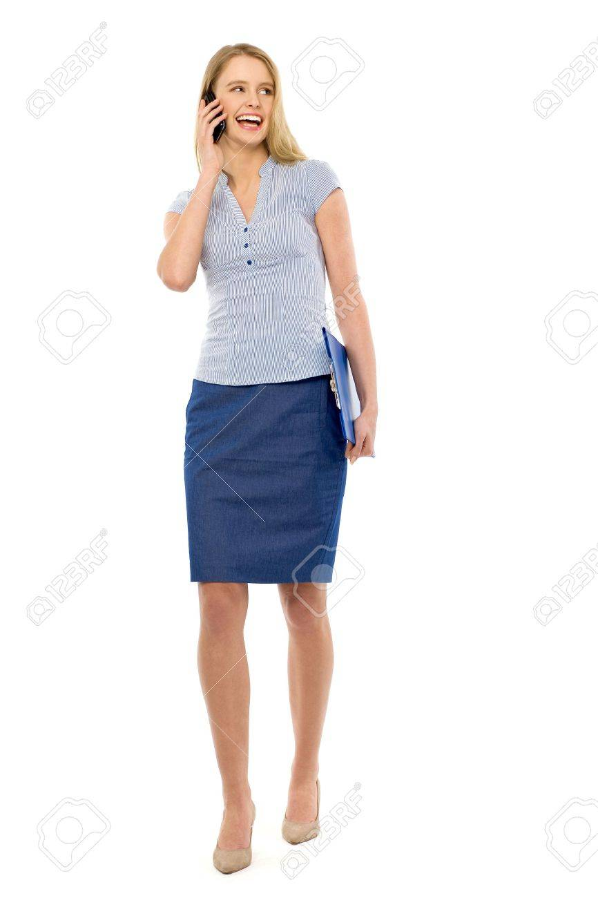 Woman using mobile phone Stock Photo - 12964387