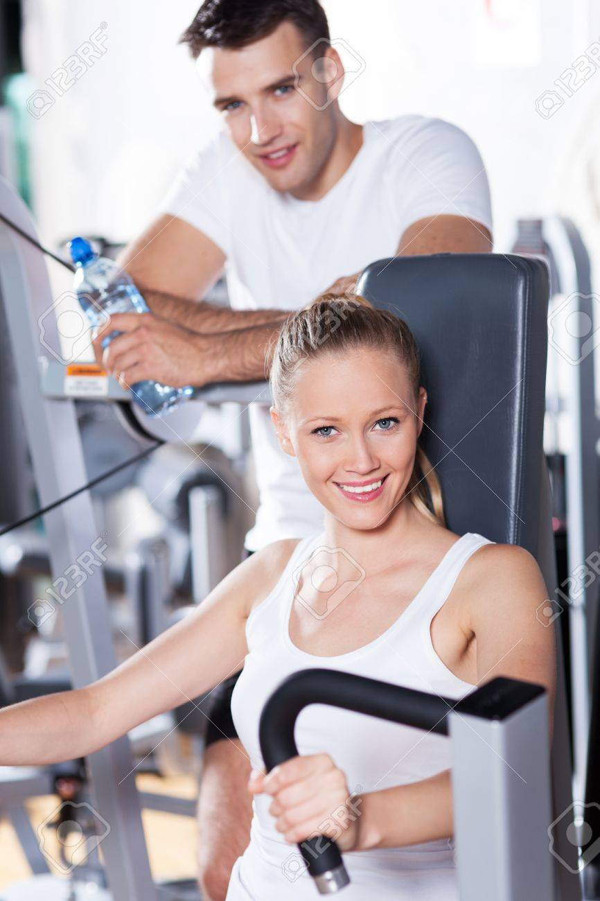 Couple at the gym Stock Photo - 14336775