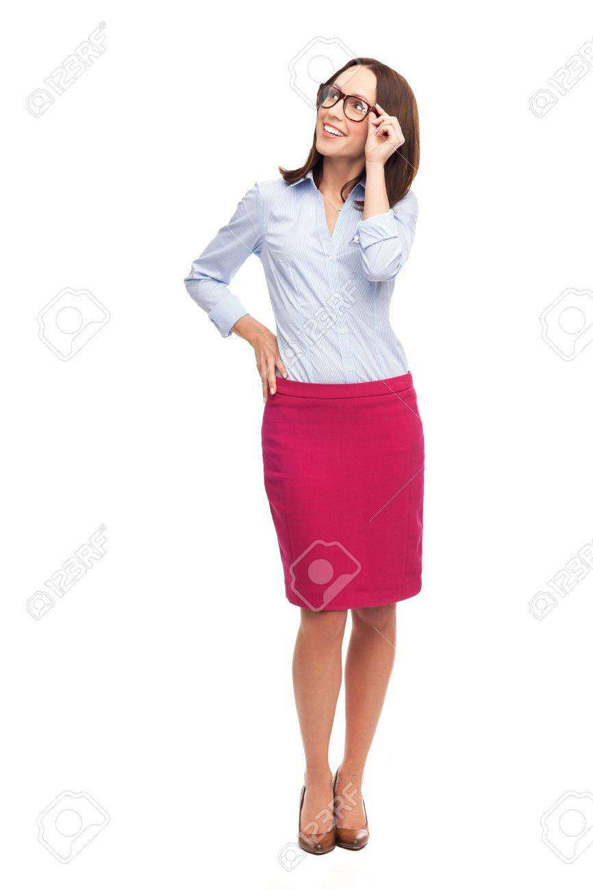 Businesswoman looking up Stock Photo - 16695355