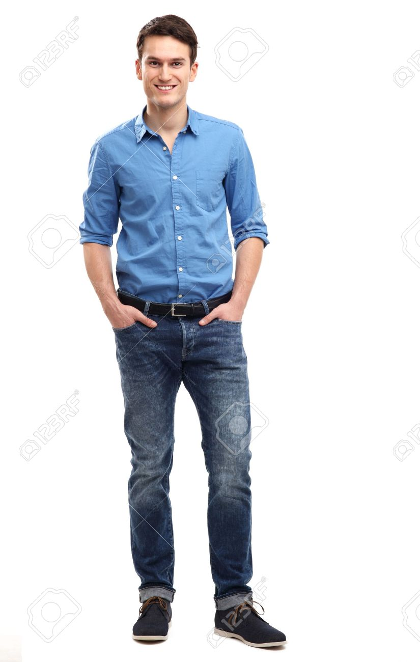 5ae4d7b818 Casual Young Man Standing Stock Photo, Picture And Royalty Free ...