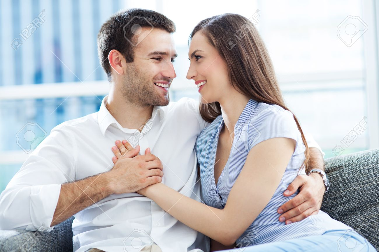 Couple hugging at home Stock Photo   20499839. Couple Hugging At Home Stock Photo  Picture And Royalty Free Image