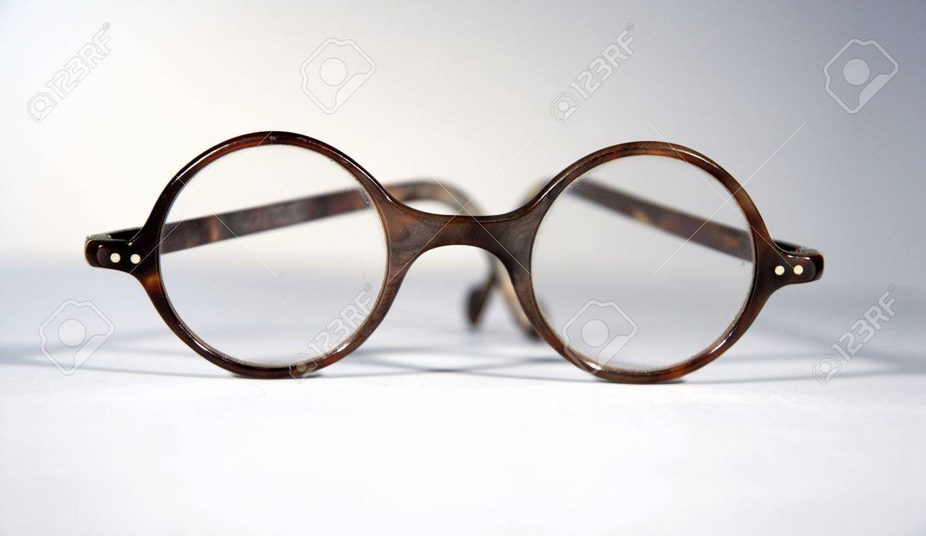 f279f516e4 Antique real tortoiseshell rounde eye spectacles Stock Photo - 2833003
