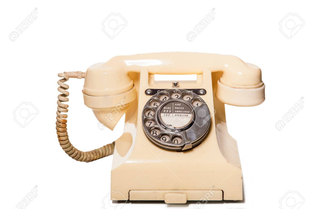 Fifties antique British GPO 332L ivory color bakelite telephone Stock Photo - 23806327