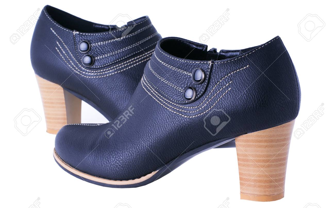 dark blue womanish boots isolited on white background Stock Photo - 9623218