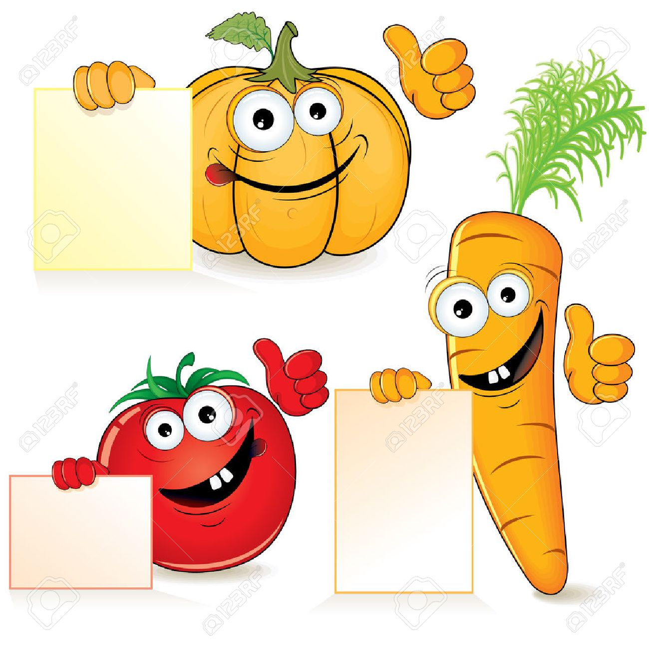 かわいい漫画野菜の空の記号 ロイヤリティフリークリップアート