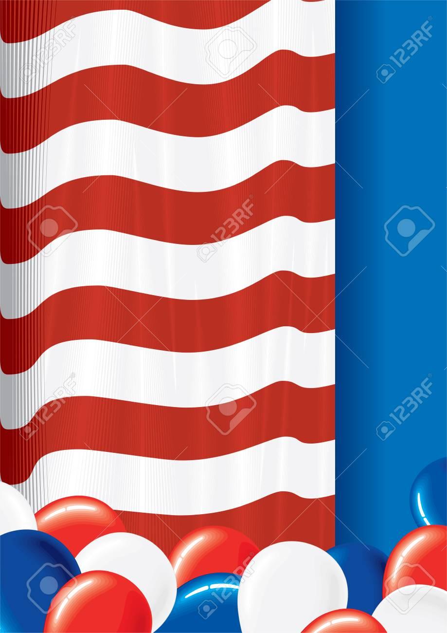 USA flag theme festive vector background Stock Vector - 7649786