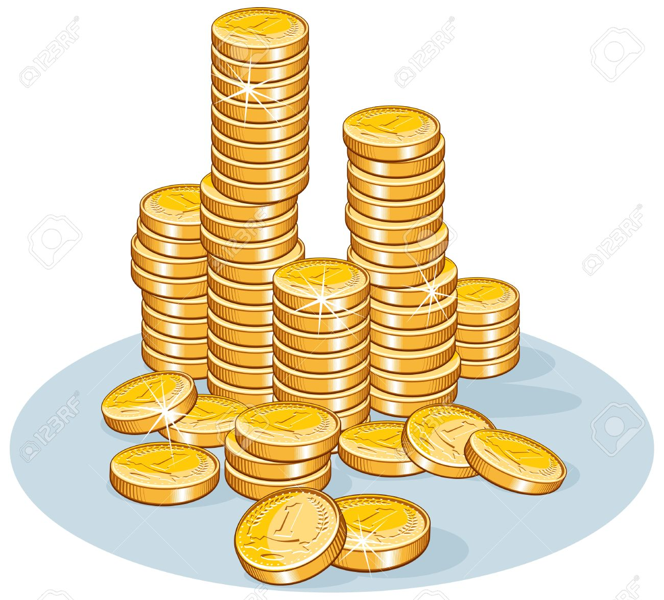 Pile of coins- vector illustration Stock Vector - 7649785