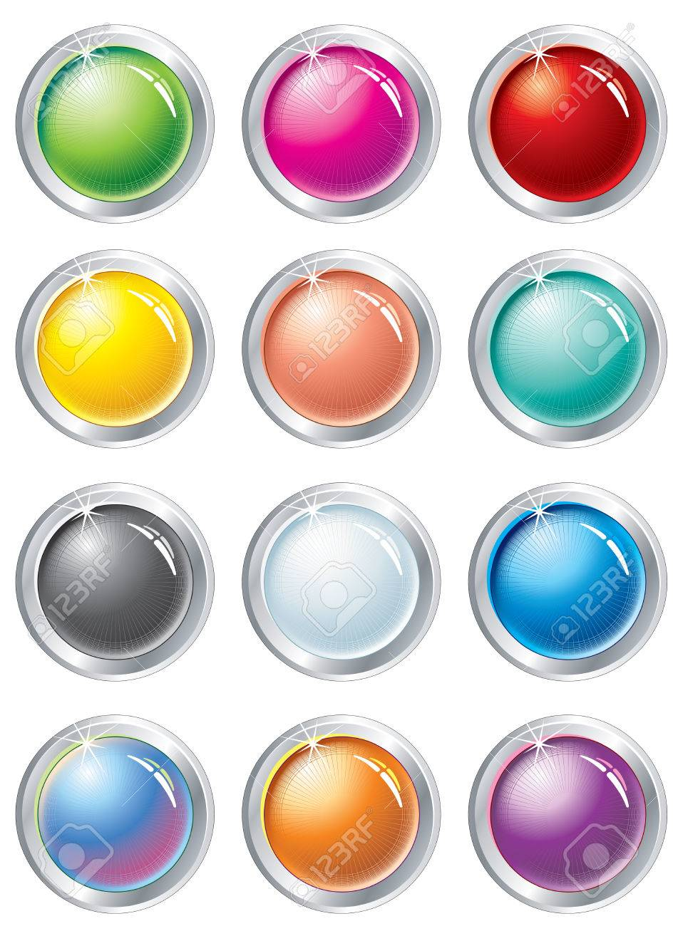 Collection of multicolored vector buttons Stock Vector - 7649854
