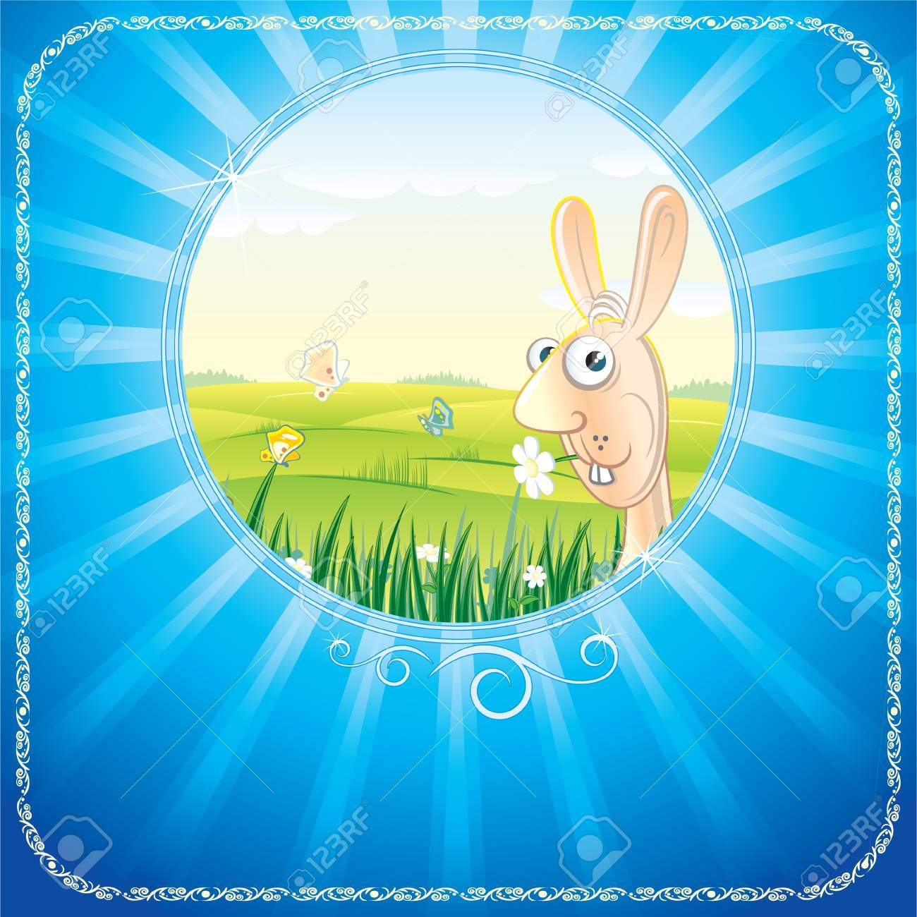 Easter greeting card Stock Vector - 7684629