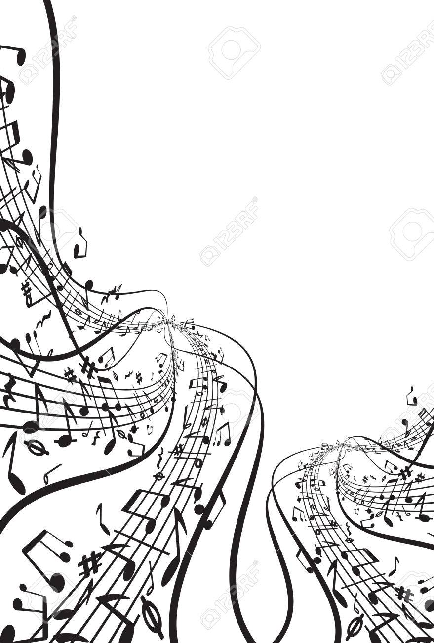Music   background Stock Vector - 7684879