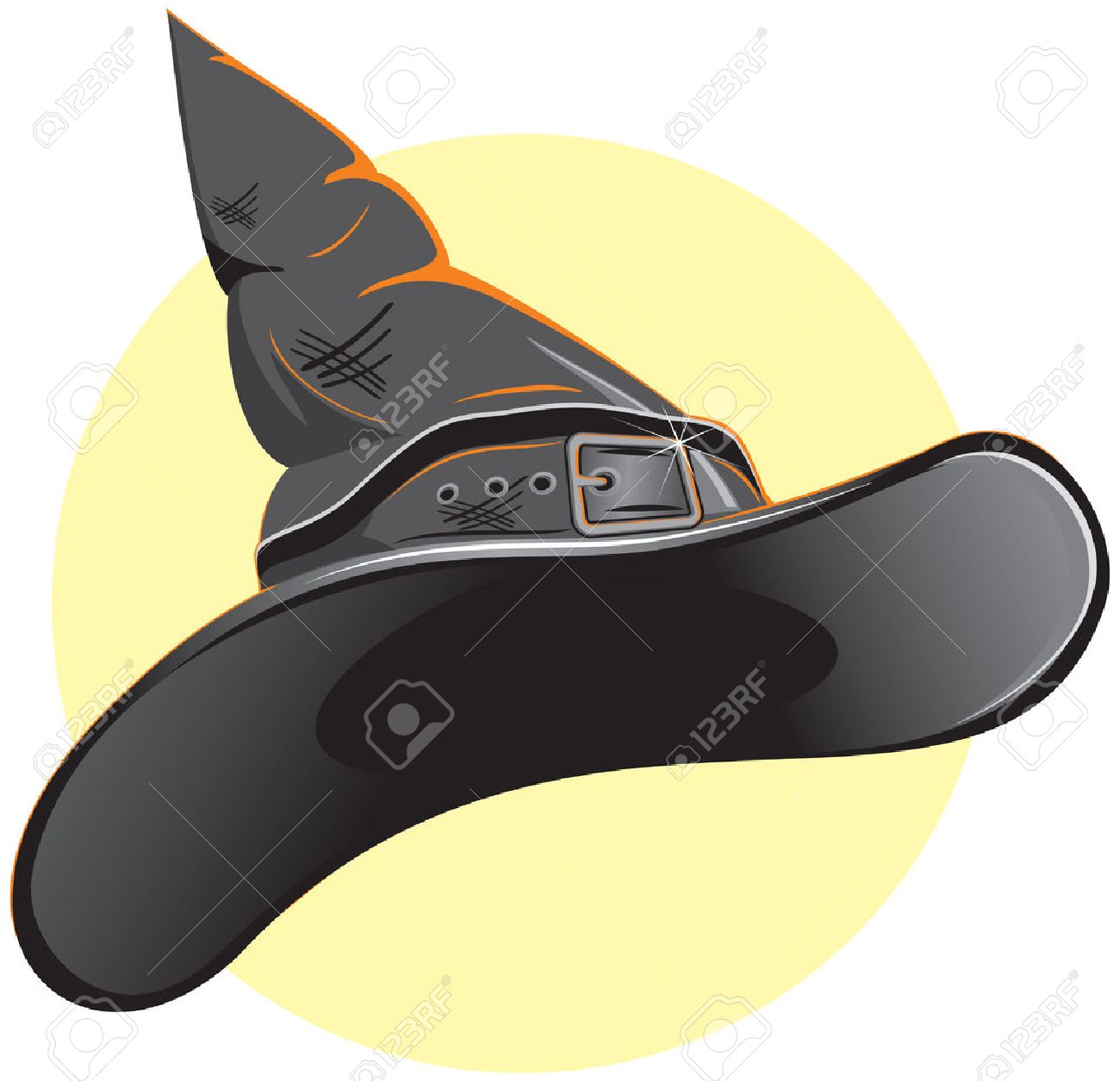 Witch Hat or Hat for Wizard Stock Vector - 7684888