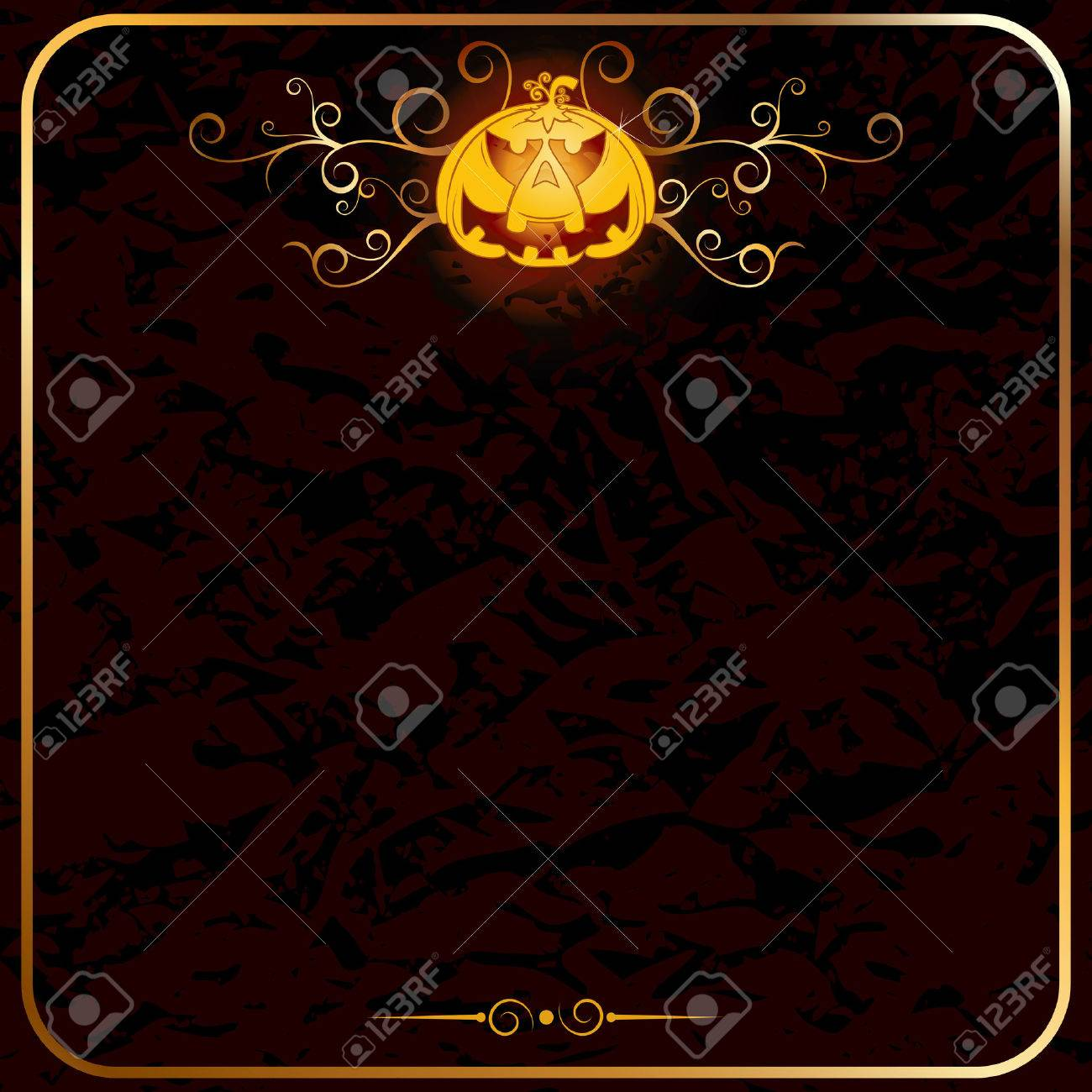 halloween backdrop empty card template stock vector 7684940