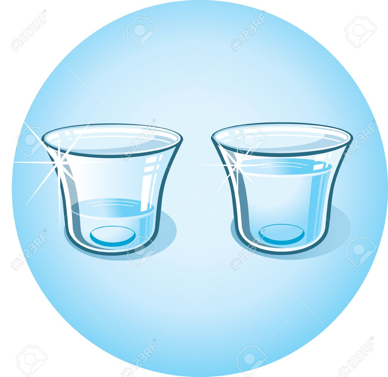 Glass With Clear Water. Clip Art Royalty Free Cliparts, Vectors ...