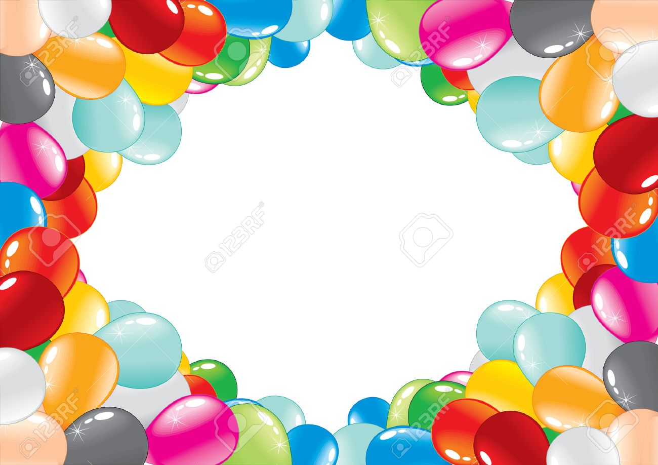 celebration balloon frame stock vector 7782948