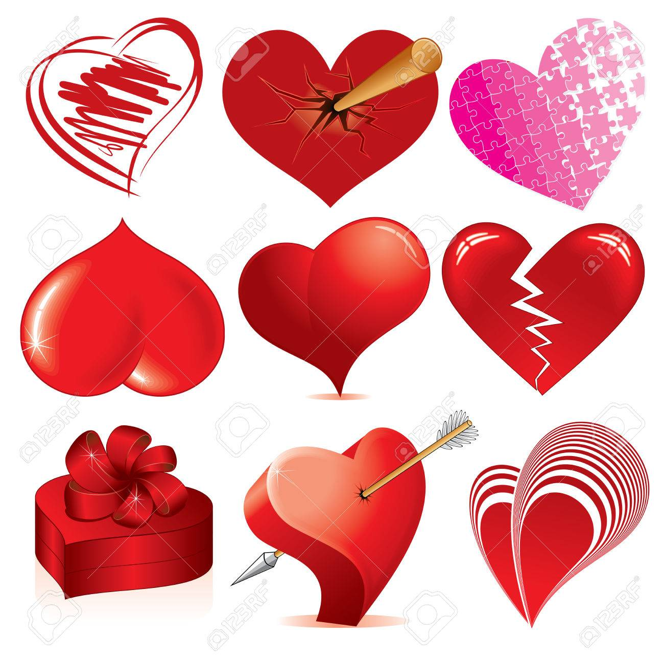 Collection of detailed hearts various stylized love symbols collection of detailed hearts various stylized love symbols for your design stock vector 7783061 biocorpaavc