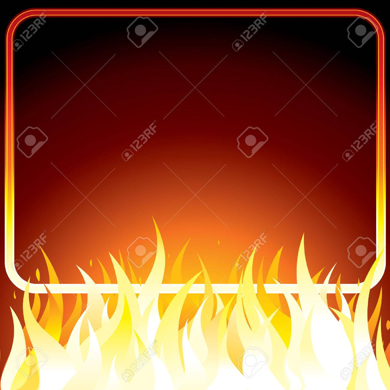 Poster design your own - Fire Poster With Frame For Your Own Text Or Design Background Stock Vector