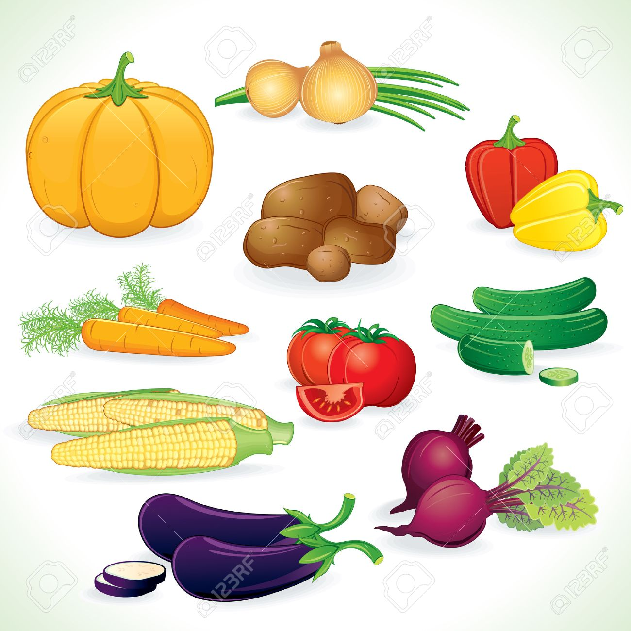 Fresh colored vegetables crop Stock Vector - 7913077