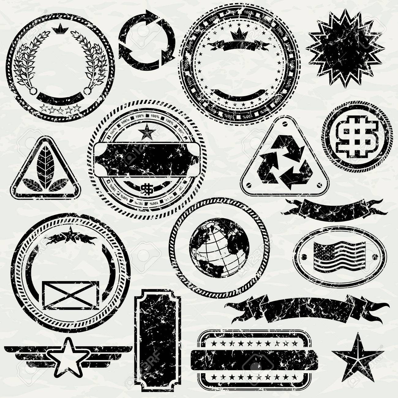 Dollar Design Elements Grunge Stamps Design Elements