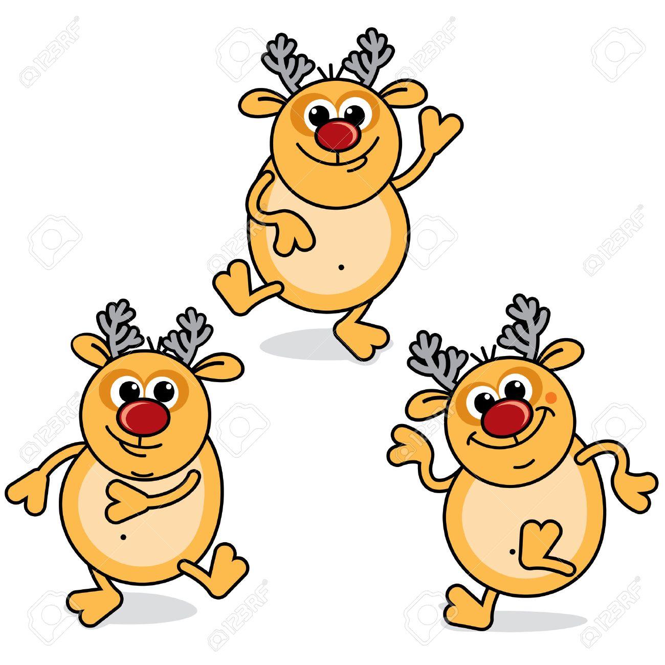 Christmas Dancing Cartoon.Funny Cartoon Dancing Rudolph Christmas Icons