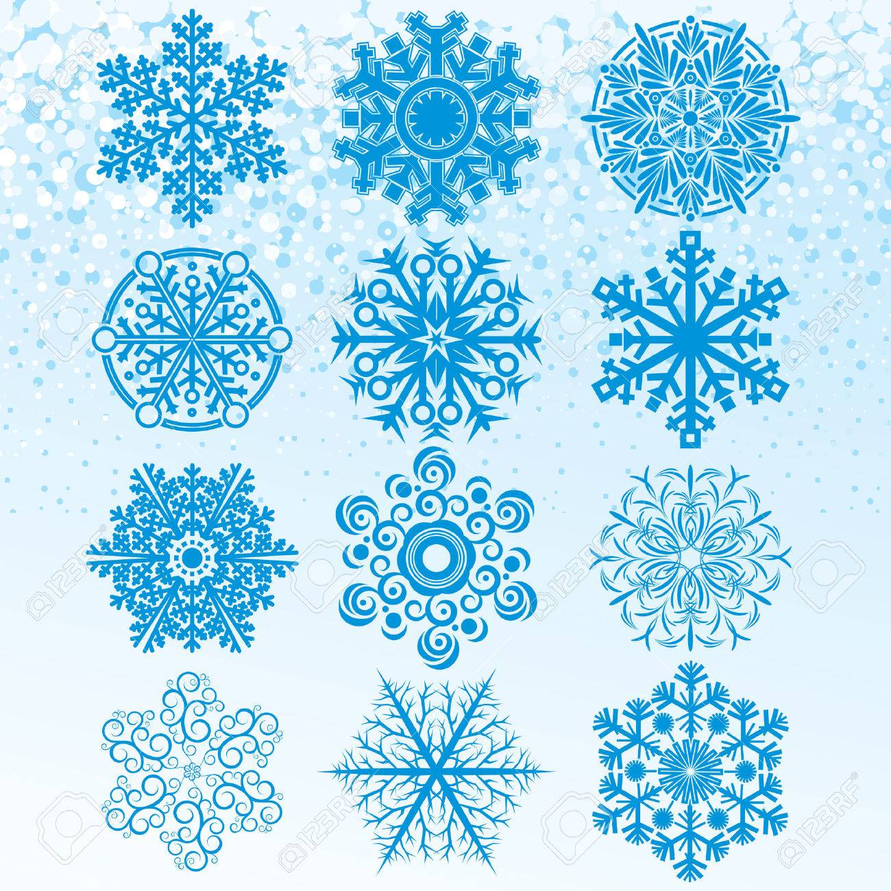 Snowflakes collection -   clip art Stock Vector - 8186170