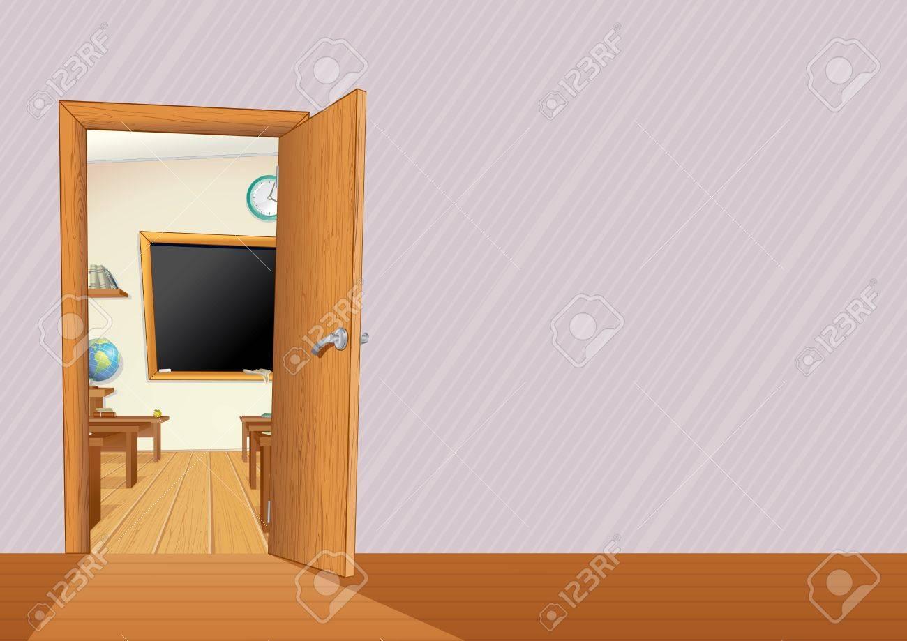 Vaciar El Aula Con Muebles De Madera Escritorios Pizarra  # Muebles Pizarra