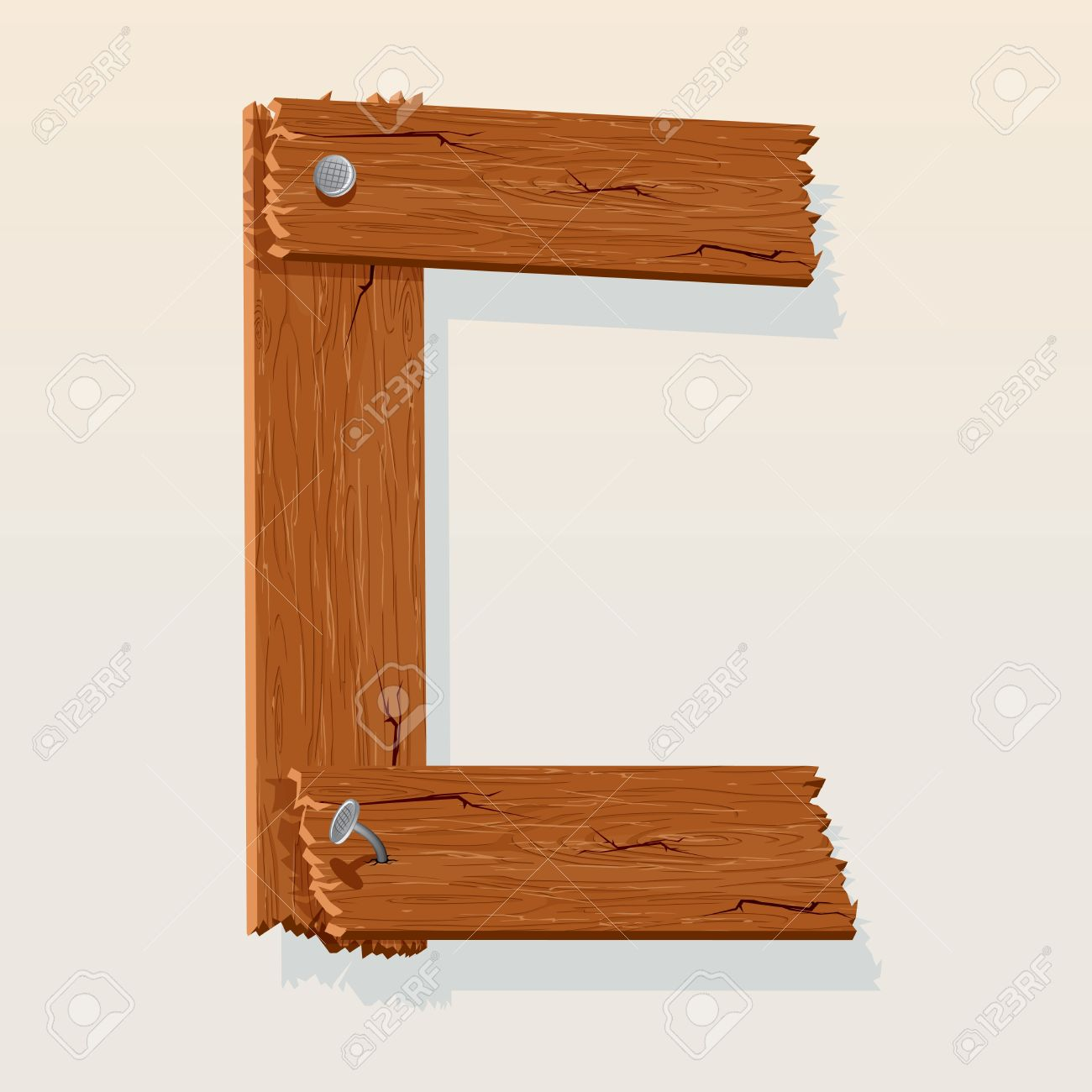 letter c from vector wooden alphabet stock vector 10851014