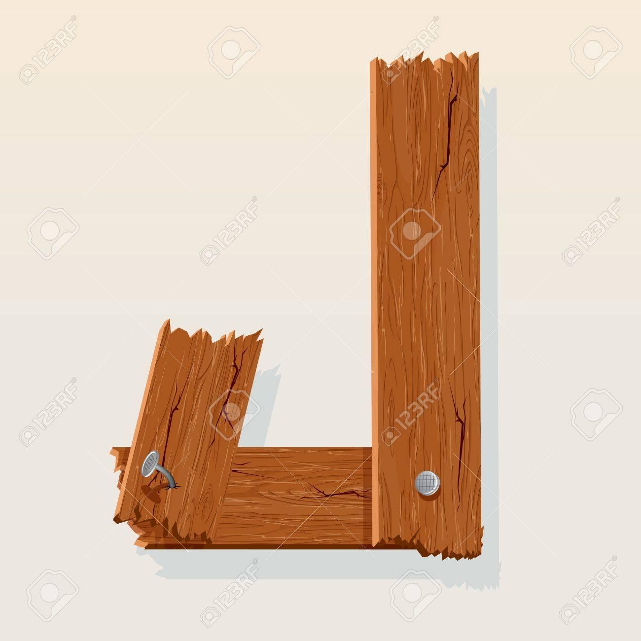 Letter J From vector Wooden Alphabet Stock Vector - 10851012