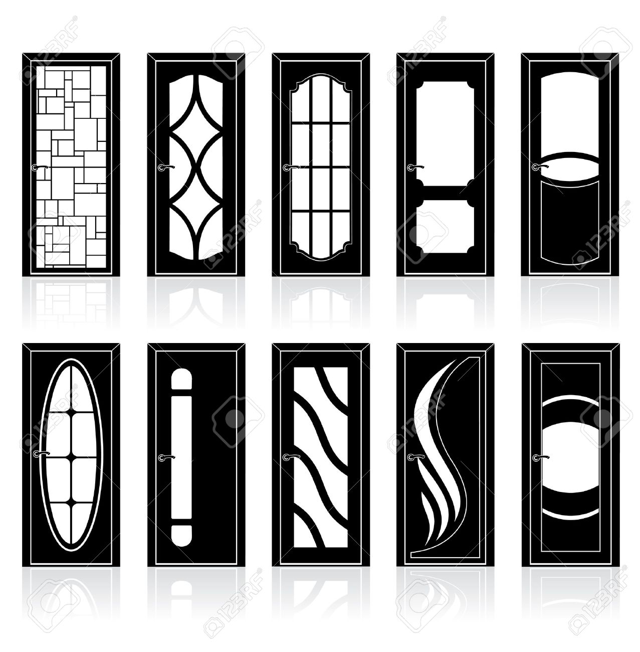 Modern front doors black - Doorframe Collection Of Modern Interior And Front Doors With Doorframe