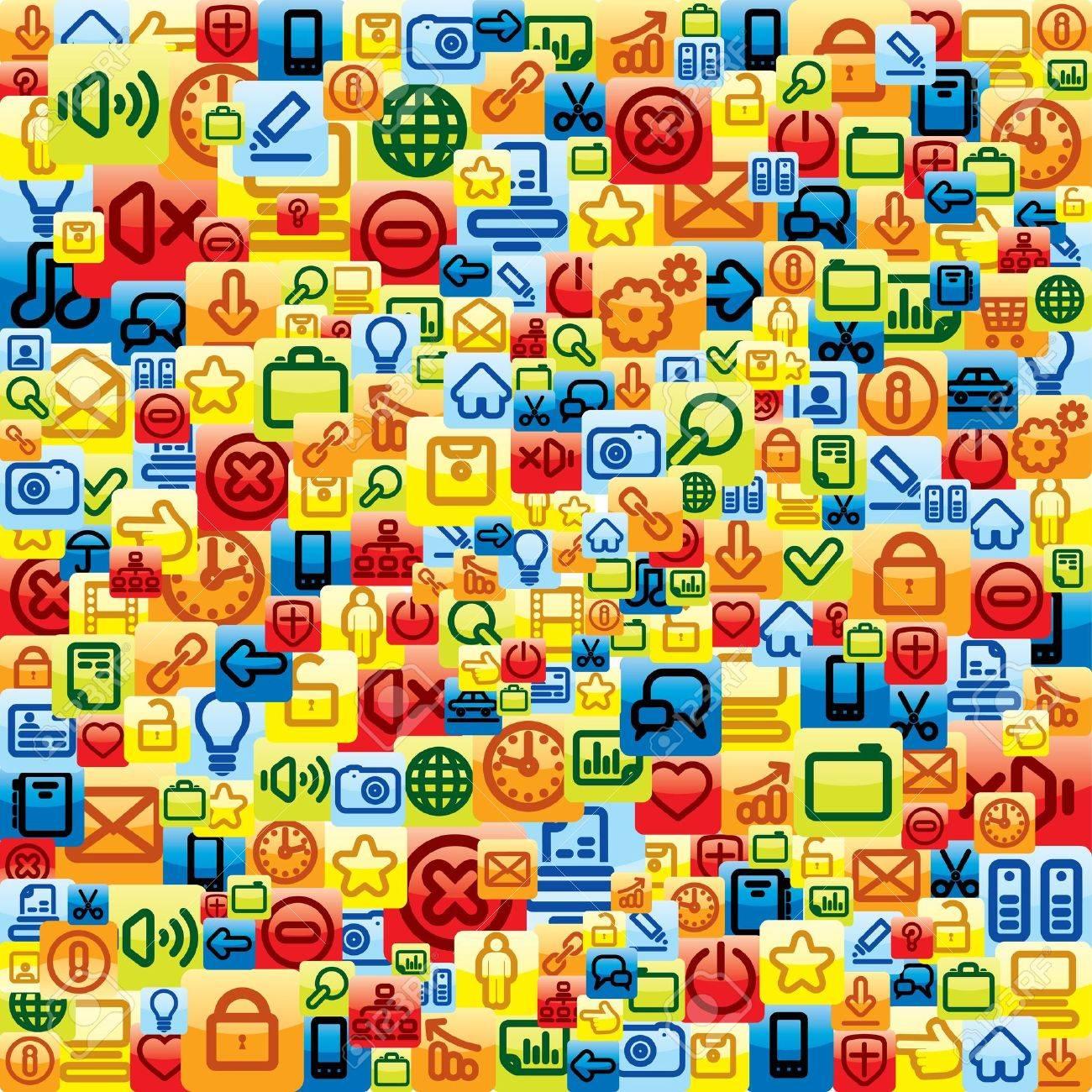 Social Media Pattern  Vector Background Stock Vector - 13572947