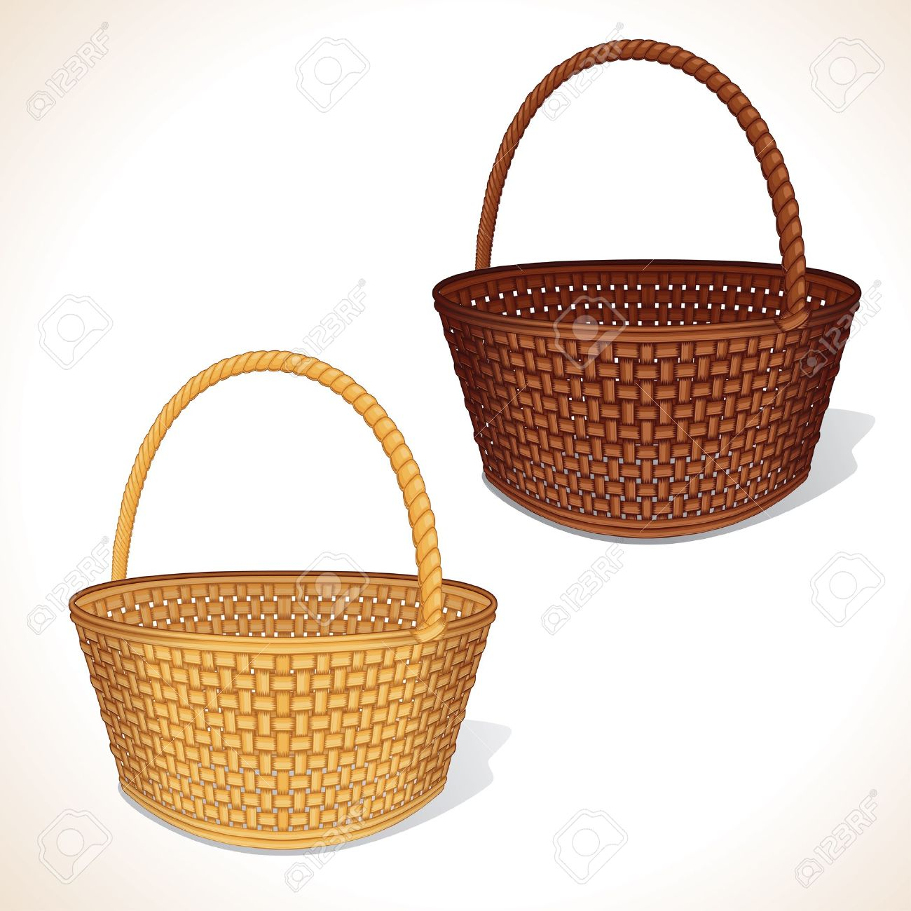 Isolated Vector Basket Stock Vector - 13572960