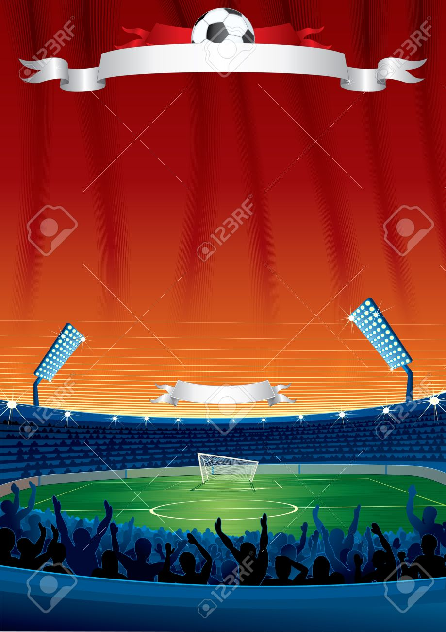 Vector Soccer Background with Copy space. Template For your Text and Design Stock Vector - 13720109