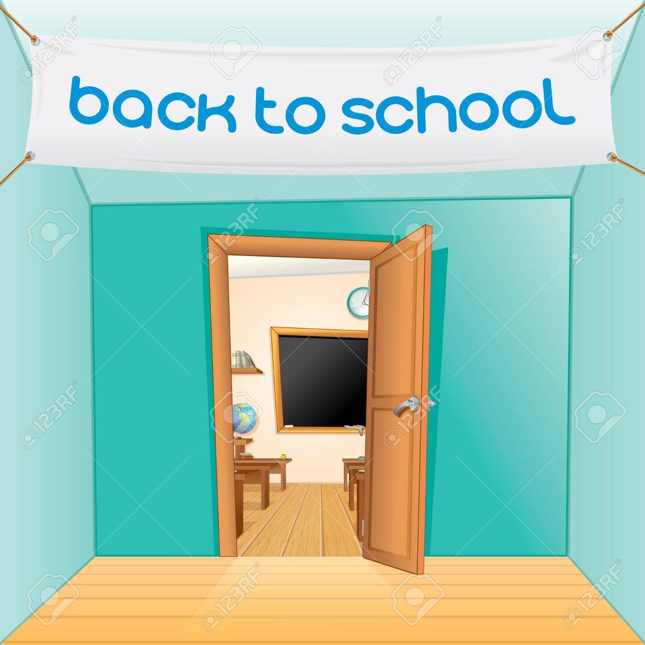 Cartoon classroom door - Back To School Vector Cartoon Illustration Stock Vector Door School Open Jpg 1300x1300 Cartoon Classroom Door