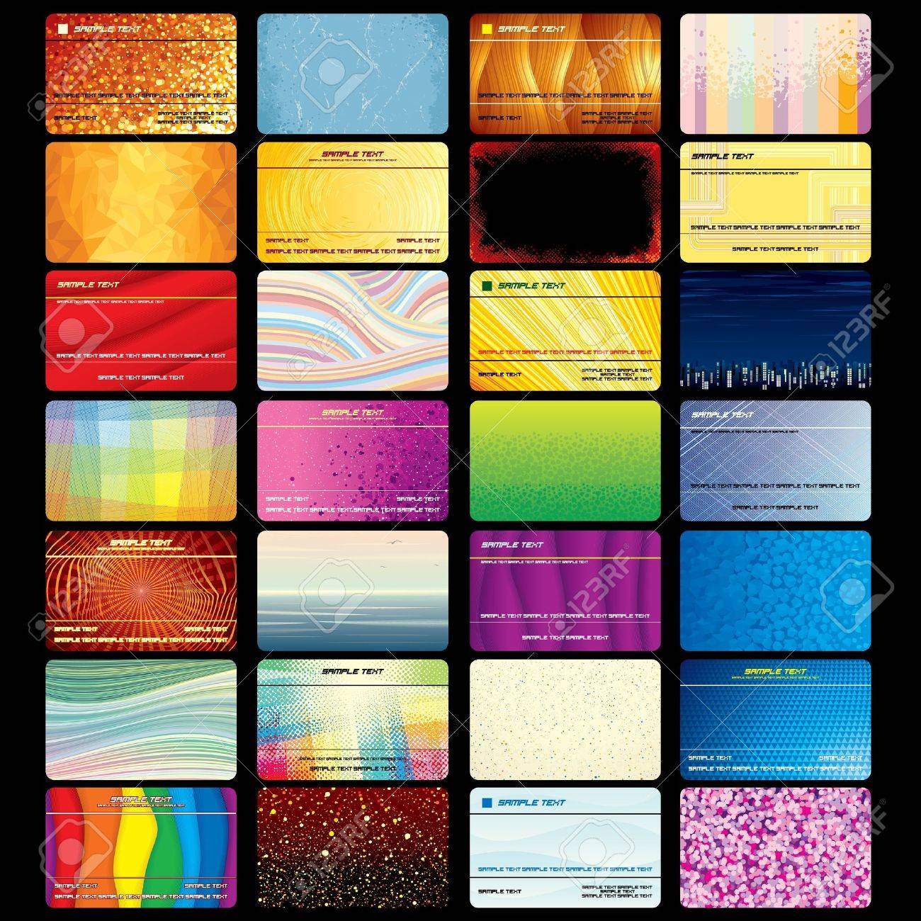 Various business card or credit card blank textured vector templates various business card or credit card blank textured vector templates for your company design and text flashek Choice Image