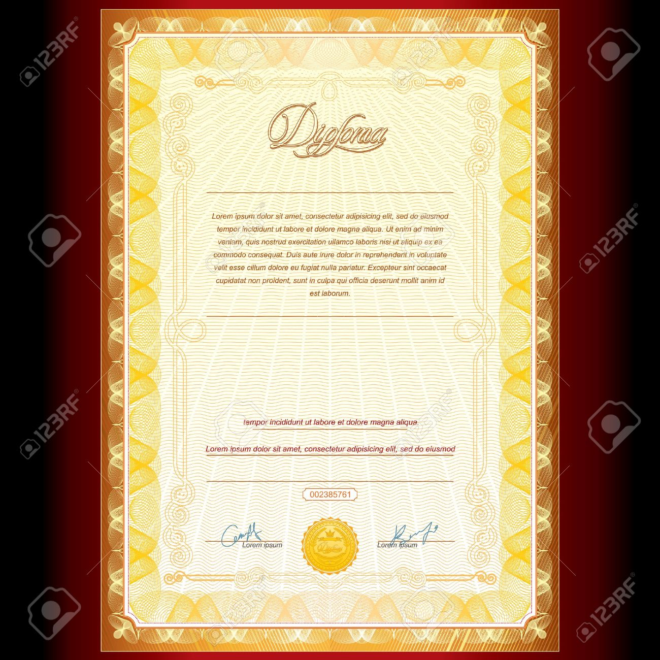 royal golden diploma vector background royalty cliparts  royal golden diploma vector background stock vector 15061134