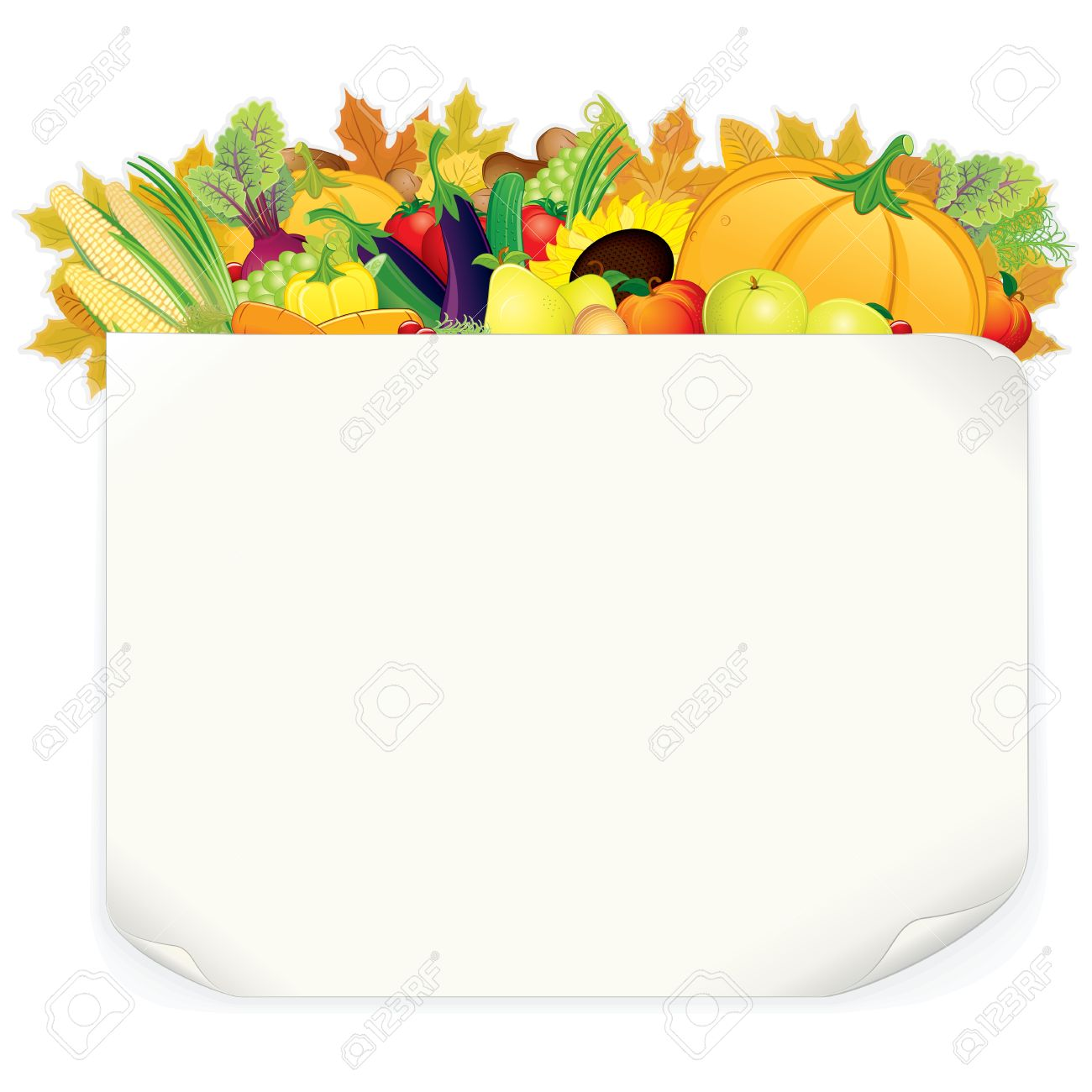Thanksgiving Background Stock Vector - 16446690